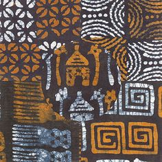 The African Fabric Shop : Hand-dyed Kola nut and Indigo fabrics from The Gambia