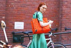 Karen Elson - Balenciaga bag