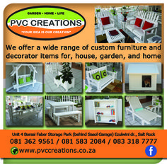 PVC Creations Ballito Fencing, Custom Furniture, South Africa, The Unit, Group, Life, Bespoke Furniture, Fences