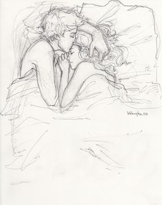 Line drawing of a couple.  Anybody know the original source?