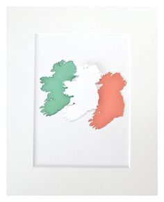 St Patrick's Day Ireland Flag Irish Gift Ireland by mIrishDublin Ireland Map, Irish Decor, St Patricks Day, Flag, Orange, Handmade Gifts, Green, How To Make, Etsy