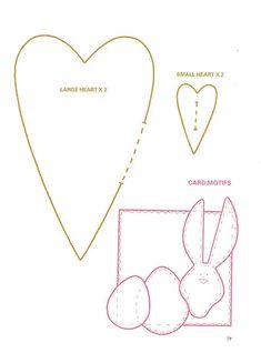 Tilda hearts part 2 Felt Crafts, Easter Crafts, Diy And Crafts, Applique Patterns, Sewing Patterns, Sewing Crafts, Sewing Projects, Fabric Hearts, Heart Template