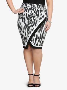 Love at first sight.  Plus Size Torrid Leopard Wrap Midi Skirt