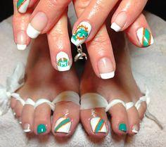Miami nail art, miami nails, miami NailArt, nails, nail art sports nail art