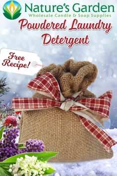 Free Natural Powdered Laundry Detergent Recipe by Natures Garden.