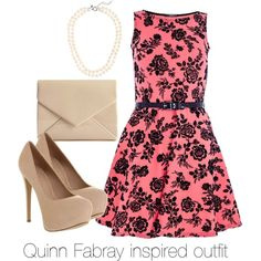 Quinn Fabray inspired outfit/Glee by tvdsarahmichele on Polyvore featuring Quiz, Office, J.Crew, glee, quinnfabray and DiannaAgron