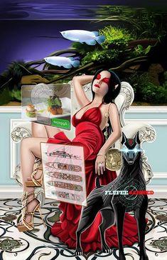 Coins 13 Queen - Echo Chernik Shadowrun Game, Symbolic Art, Dragon 2, Tarot Decks, Cyberpunk, Sci Fi, Coins, Queen, Guys