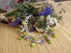 ON SALE Spring Green Charm Bracelet