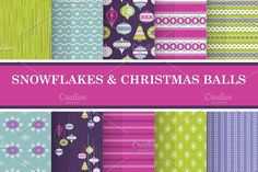 10 Vintage Christmas Patterns. Christmas Patterns. $5.00
