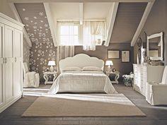 Ну вот, прекрасная мансардная спальня! И да, белий)