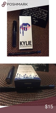 *Clearance* ✨KYLIE JENNER FREEDOM LIP KIT ✨ FREEDOM  high quality lip kits  ❤️ Sold at a low SOLID price  NO TRADES  BRAND NEW (never used nor swatched)  For best results apply liner lightly first and fill in with liquid lipstick over top Kylie Cosmetics Makeup Lipstick