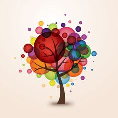 Balloon Tree Vector Graphic - DryIcons