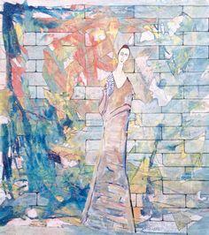 Claudio Spanti - Poupée Modi - Acrylique sur toile - cm 71x63 - 2012