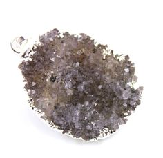 Dazzling Druzy Pendant in Stunning Earth Tones Heavy by Beadspoint