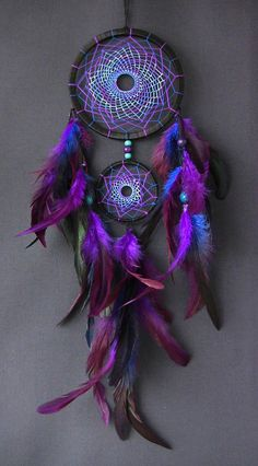 Dream catcher dreamcatcher blue dream catcher purple dream catcher wall hanging feather dreamcatcher gift dream catcher wall boho style - Dreamcatcher – is not just a fashion accessory for an ethnic interior. The Indians attributed thi - Purple Dream Catcher, Dream Catcher Decor, Dream Catcher Boho, Dream Catcher Patterns, Hirsch Tattoo, Dreamcatcher Wallpaper, Dreamcatcher Feathers, Beautiful Dream Catchers, Boho Stil