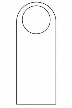 The appealing 003 Template Ideas Blank Door Hanger Outline Inside Blanks Usa Templates photo below, is other parts of … Best Templates, Templates Printable Free, Printables, Paper Box Template, Door Hanger Template, Pocket Envelopes, Eid Cards, Simple Rose, Flower Frame