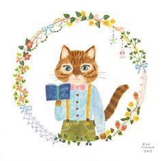 Interview with Aiko Fukawa - Cute Cat Artist Japan Illustration, Photo Chat, Cat Art, Illustrations Posters, Book Art, Kawaii, Drawings, Artwork, Kitty Drawing