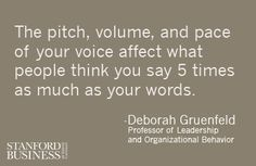 Read more of Professor Deborah Gruenfeld's insights about how physical attributes and nonverbal cues affect the way people judge you: https://www.gsb.stanford.edu/insights/behavior-lessons-leadership-teamwork