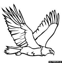 eagle | Bald Eagle Coloring Page | Memorial Day Coloring