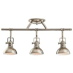 "Kichler Polished Nickel 23"" Wide Swivel Ceiling Fixture                                         Style # N2473"