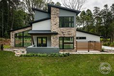 Container House Design, Container Houses, Mountain House Plans, Dream House Interior, Craftsman Style Homes, Exterior Remodel, New Home Designs, Large Windows, Great Rooms