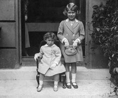 Elizabeth and her sister Margaret in 1933.