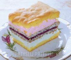 Ciasto Wyśmienite Rice Cakes, Food Cakes, No Bake Desserts, Delicious Desserts, Cake Recipes, Dessert Recipes, Polish Recipes, Food Design, Yummy Cakes