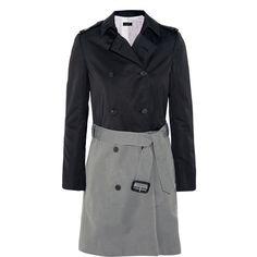 Joseph Benicio two-tone taffeta trench coat