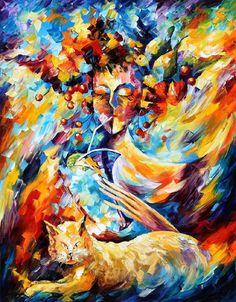 Fantasy — PALETTE KNIFE Modern Impressionism Fine Art Oil Painting On Canvas By Leonid Afremov