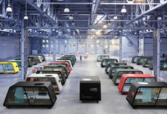 IDEO envisions a future where self-driving workplaces commute to you.   Pretty keen for this, you'd be able to work pantless all the time!