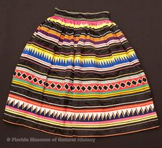 Seminole Indian Patchwork Skirt
