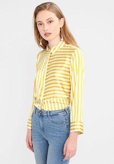 Kleding Pieces PCJESSICA  - Overhemd - yellow/off-white Geel: € 34,95 Bij Zalando (op 22/02/18). Gratis verzending & retournering, geen minimum bestelwaarde en 100 dagen retourrecht!