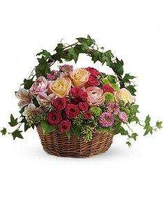 i really like ivy, I guess, I keep coming back to it ->Fairest of All Flowers, Fairest of All Flower Bouquet - Teleflora.com