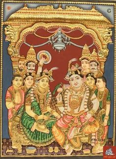 Thanjavur Paintings in chennai Mysore Painting, Tanjore Painting, Krishna Painting, Krishna Art, Antique Art, Vintage Art, Lord Krishna Images, Indian Art Paintings, Outline Drawings