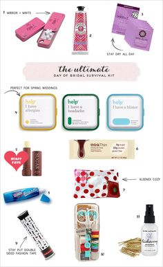 This is great for the bride on her big day but these items will also come in handy on any vacation!