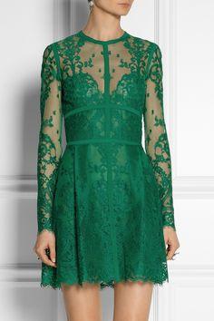 Elie Saab|Lace mini dress|NET-A-PORTER.COM