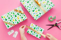 We Designed the Ultimate Gift Wrap Kit (and It Can Be Yours for FREE!) via Brit + Co