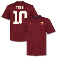 Nike AS Roma Home Totti 10 Supporters Shirt 2014 2015 AS Roma Home Totti 10 Supporters Shirt 2014 2015 (Fan Style Printing) http://www.comparestoreprices.co.uk/football-shirts/nike-as-roma-home-totti-10-supporters-shirt-2014-2015.asp