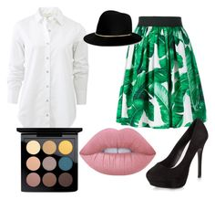 """""""Shirt and skirt"""" by a66eygail on Polyvore featuring rag & bone, Dolce&Gabbana, New Look, Janessa Leone, Lime Crime and MAC Cosmetics"""