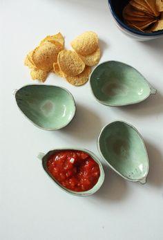 Avocado Ceramic dishes by TriBecasVintage on Etsy