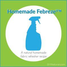 Homemade Febreze Homemade Fabric Refresher