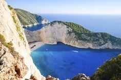 View of Navagio bay on Zakynthos island, Greece   free image by rawpixel.com