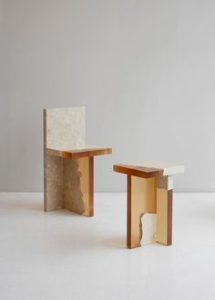 Fragments of discarded marble are combined with resin to form this angular furniture collection by South Korean office Fict Studio. Furniture Decor, Furniture Design, Sideboard Furniture, Concrete Furniture, Urban Furniture, Furniture Movers, Furniture Online, Paris Crafts, Espace Design