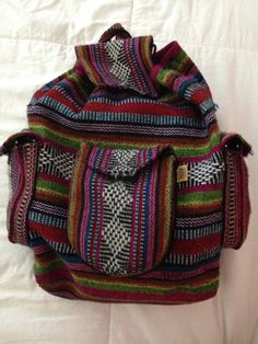 Hand Woven Mexican Backpack