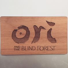 Wood Business Card for the video game Ori and the Blind Forest Wood Invitation, Invitations, Wood Business Cards, Custom Rubber Stamps, Custom Products, Wood Ornaments, Fort Collins, Blinds, Promotion
