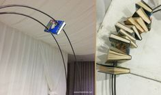 Complete tutorial for creating a book arch  http://www.thelistlab.net/how-to-make-a-book-arch/