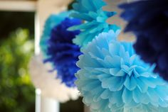 How To Make Tissue Paper Pom Poms | Tissue Paper Crafts