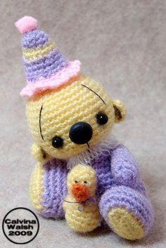 ༺༺༺♥Elles♥Heart♥Loves♥༺༺༺ ........♥Crochet Amigurumi♥........ #Amigurumi #Patterns #Crochet #Softies #Childrens #Toys #Handmade #Teddy #Doll #Tutorial #Patterns #Collectable~ ♥Beautiful Crochet By Calvina Walsh Easter Bear