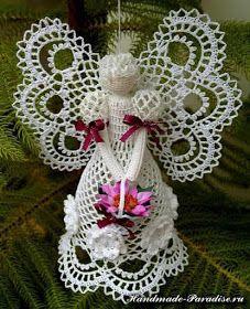 Interesting ideas for decor: Crochet angels ....Вязаные ангелы.