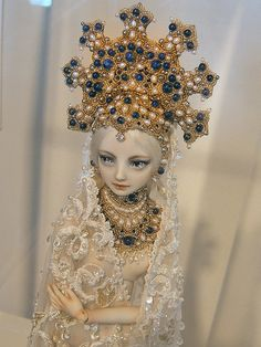 Photo taken at the Enchanted Doll exhibit at VillaTerrace, Milwaukee, Wisconsin. All dolls in these photos are created and owned by artist Marina Bychkova. Fairy Dolls, Bjd Dolls, Doll Toys, Claude Monet, Enchanted Doll, Doll Costume, Creepy Dolls, Ball Jointed Dolls, Doll Face